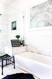 bathroom remodel ideas with wall art and small decor and bench anc