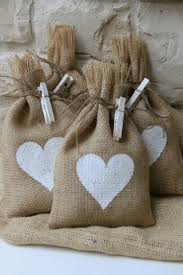 Shabby Chic Gift Bags by Burlap Gift Bags Or Treat Bags Hand Painted Heart Shabby Chic
