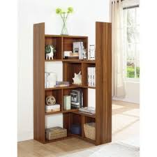 Walnut Corner Bookcase Walnut Corner Bookcases You Ll Wayfair