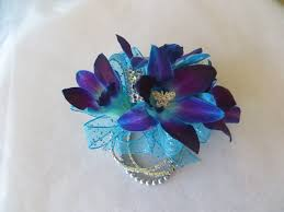 blue orchids for prom corsages and boutonnieres for delivery