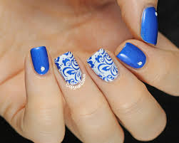 nail designs blue and white beautify themselves with sweet nails