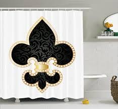 Fleur De Lis Decor Fleur De Lis Curtain Amazon Com