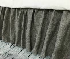 chambray grey bed skirt gathered bed skirt available in