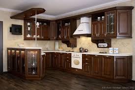 Dark Wood Kitchen Cabinets Home Interior Ekterior Ideas - Dark wood kitchen cabinets