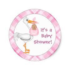 stork baby shower stork baby girl darker skin baby shower classic sticker