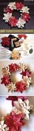 diy poinsetta wreath christmas diy ideas craft flowers paper