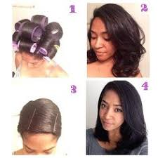roller set relaxed hair amazing roller set on natural hair roller set hair style and