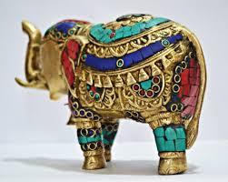 Elephant Home Decor Elephant Sculpture With Coral Metal Figurine Animal Home Decor