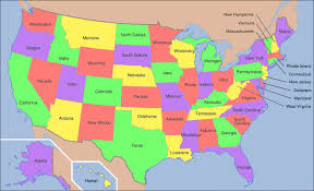 united states map with names of states and capitals image of united states map united states map trivia map of