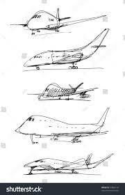 handmade sketch plane stock vector 57803134 shutterstock
