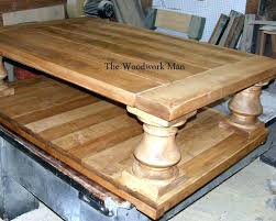 Baluster Coffee Table Coffe Table Baluster Coffee Table Rustic Solid Maple Balustrade