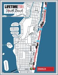 Map Of South Beach Miami by Course