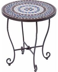 Mosaic Patio Table Top by Spring Sale Tremiti Wrought Iron 20 Inch Round Ceramic Mosaic