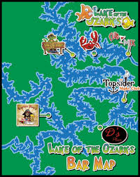 cove lake of the ozarks map lake of the ozarks bars map of the bars travel st louis and