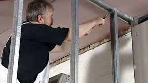 How To Build A Dividing Wall In A Room - how to install metal stud framing youtube