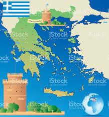 Athens Map Cartoon Map Of Greece Stock Vector Art 607758836 Istock