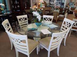 gently used glass top 60in dining table w 6 chairs u2013 coastal interior