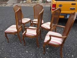 heir and space new acquisitions a fruitwood thomasville dining set