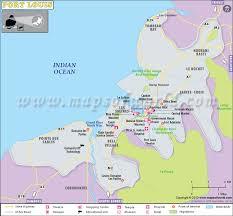 map port port louis map map of port louis city mauritius