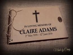 guestbook for funeral personalised in memory of funeral guestbook remembrance photo