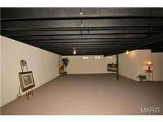 basement ceiling ideas exposed ducts painted home improvements