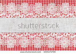 red and white table runner checkered red white table runner openwork stock photo royalty free
