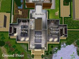 Big Houses Floor Plans Sims 2 Mansions Floor Plans