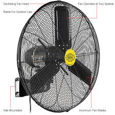 wall mounted rotating fan outdoor oscillating wall mounted fan 24 in 220 restaurant equip