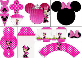 coquette pink minnie free printable boxes free party