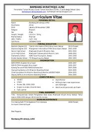 form daftar riwayat hidup pdf contoh surat lamaran kerja via email secara resmi yang baik dan