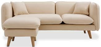 canapé d angle tissu beige canapé d angle scandinave 3 places tissu beige lestendances fr