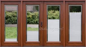 Patio Door Blinds Home Depot by Stunning Wooden Patio Doors Patio Doors Exterior Doors The Home