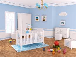 Chandelier For Baby Boy Nursery Baby Nursery Decor Wooden Floor Blue White Furniture Natural