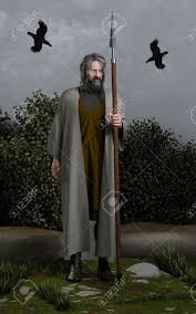illustration of odin the wanderer allfather of the norse gods