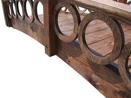 samsgazebos 8 foot rose garden wood bridge with ring railings