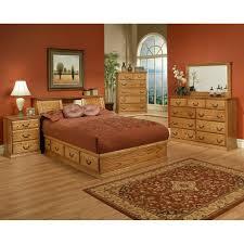 Oak Bookcase Headboard Traditional Oak Platform Bedroom Suite Cal King Size