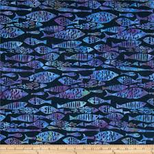 michael miller batik mod fish midnite from fabricdotcom designed