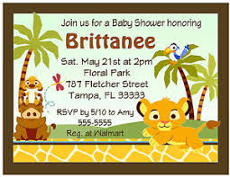 lion king baby shower invitations 20 lion king baby simba baby shower invitations w envelopes ebay