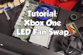 xbox one fan not working tutorial xbox one mod swap stock fan with led fan youtube