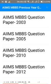 paper pattern of aiims aiims previous year questions papers apk download free education