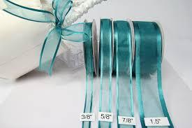 organza ribbon amorecreations teal organza ribbon with satin edge