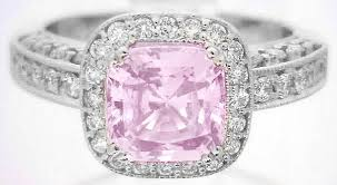 light pink engagement rings mjs original design with a cushion cut pink sapphire and