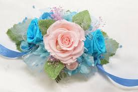 turquoise corsage boutonniere wrist corsage set bwc13 pink turquoise