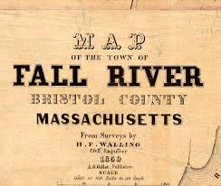 fall river 1850 massachusetts maps vintage prints