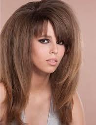 coupe de cheveux effil de cheveux dégradé effilé avec frange