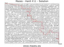 printable hard maze games hard mazes maze eleven free online maze games for everyone