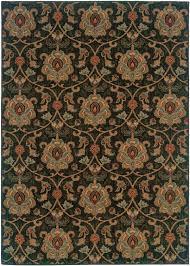 Black Gold Rug Infinity 1724e Black By Sphinx Oriental Weavers