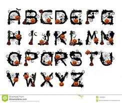 halloween font design vector stock vector image 44603844