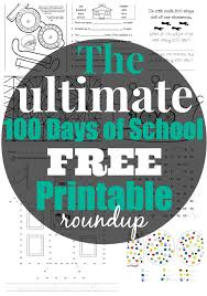 best free 100th day of printable activities and worksheets
