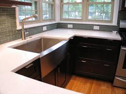 white sink black countertop decorating recommended apron sink for modern kitchen furniture